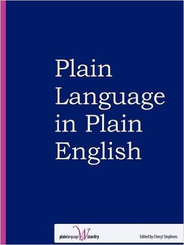 The cover of the book Plain Language in Plain English