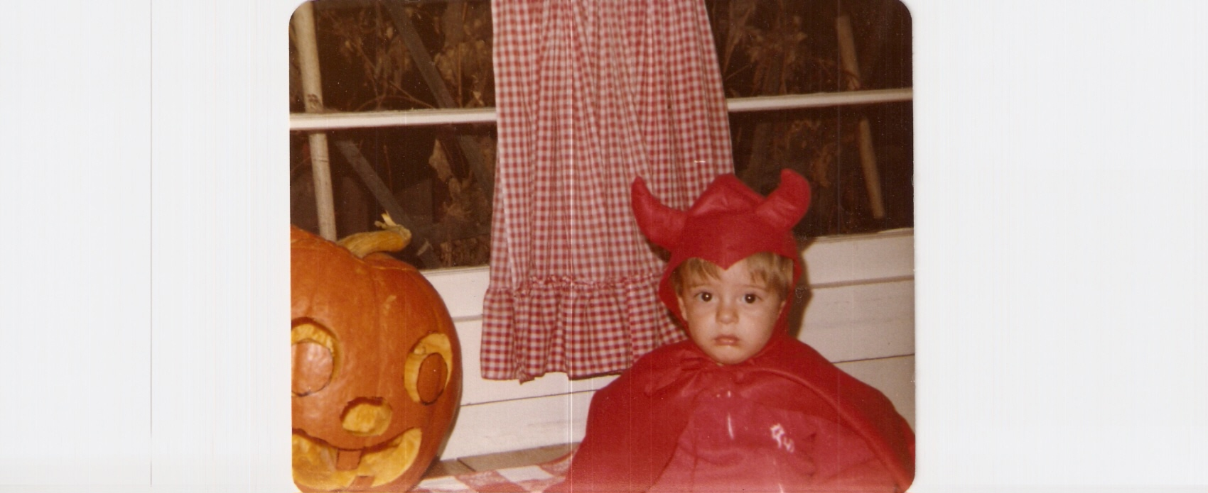 Me in a devil costume, published as part of