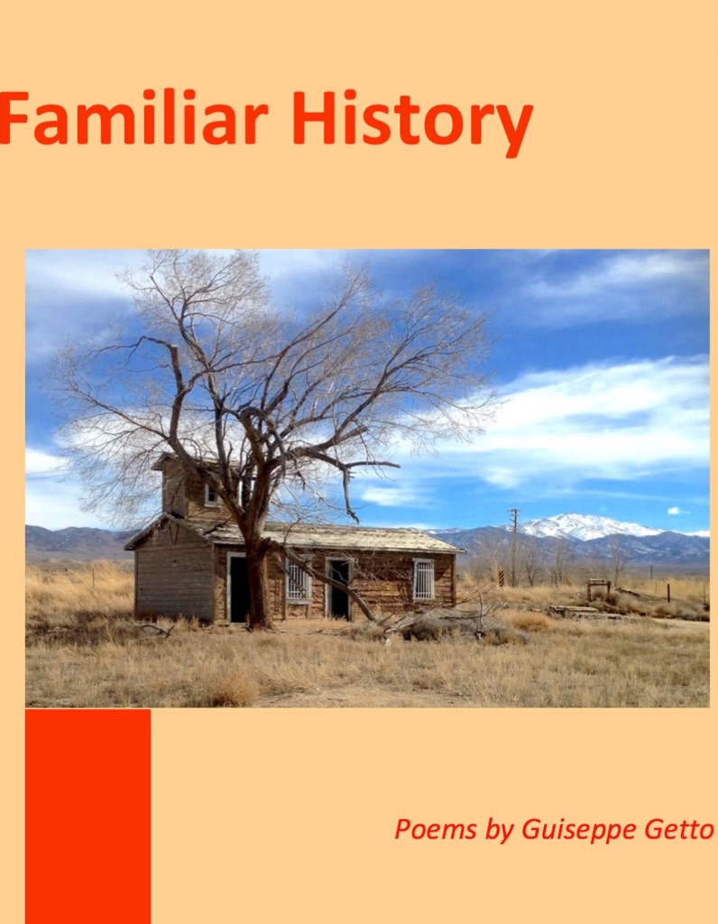 The cover of my chapbook of poems about the American west: Familiar History